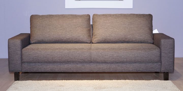 Amica - 2,5 Platz Sofa Stoff braun