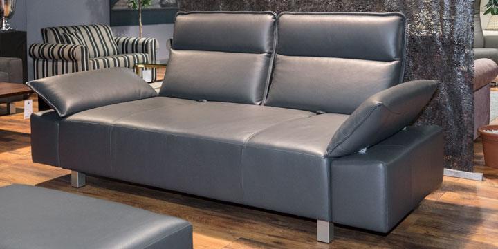 Beluga - 2,5 Platz Sofa Leder Jumbo lava