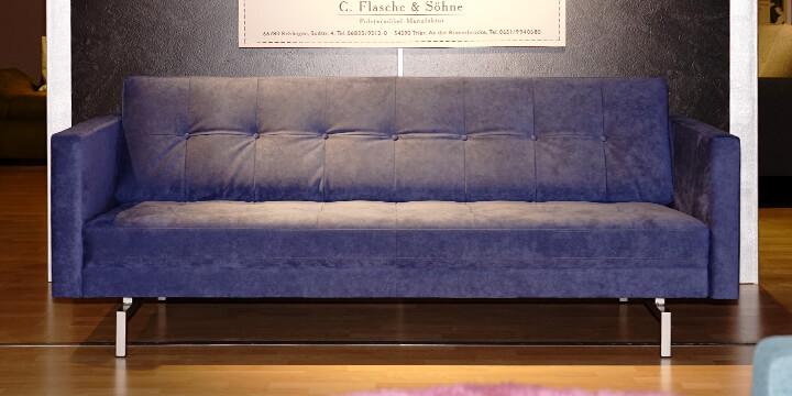 Chester - 2,5 Platz Sofa Alcantara A792 blau