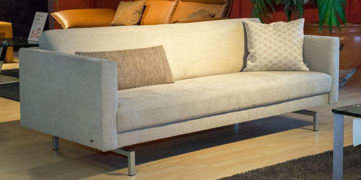 Chester - 2,5 Platz Sofa Mikrofaser S&V Like Suede hell beige