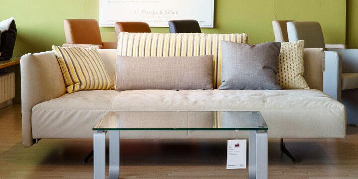 reduziertes Ausstellungsstück Sofa Easy in Mikrofaserstoff Alcanatar beige