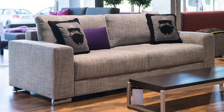Home - 2,5 Platz Sofa Stoff Art Novel Coari granite