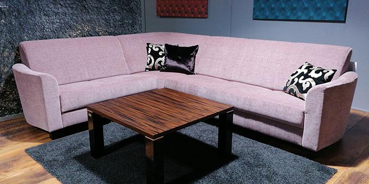 Liberty-Como - 2 & 3 Platz Sofa mit Spitzecke Stoff Radiant