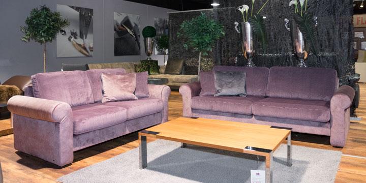 Ora - 2 + 2,5 Platz Sofa Stoff Alchimia, Kissen Stoff S&V Boutique Prestige