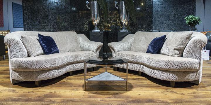 Sale Ausstellungsstück Sofa Turin in Stoff S&V Mirage Elegance beige