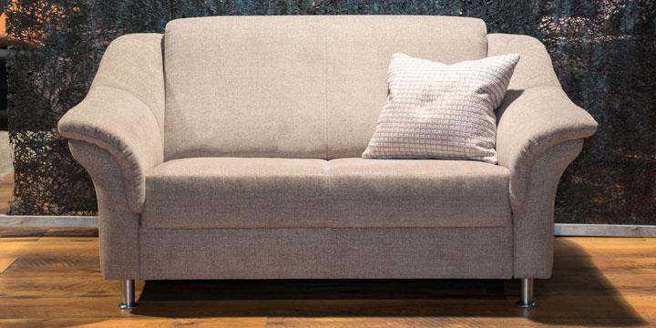 reduziertes Sofa Turin in Stoff beige