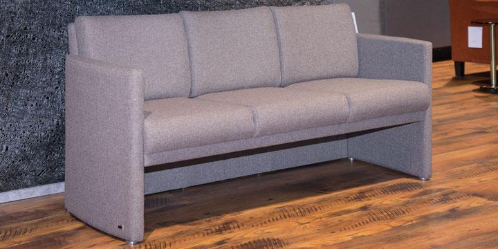 Vista - 3 Platz Sofa Stoff Monza braun beige
