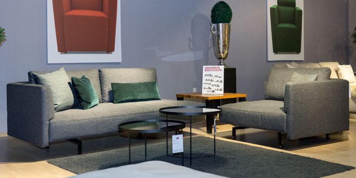 Wave - Sofa + Ecke Stoff Prima grau