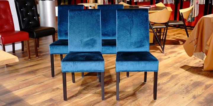 reduzierte Ausstellungsstücke Stuhl CF950 in Samtstoff blau