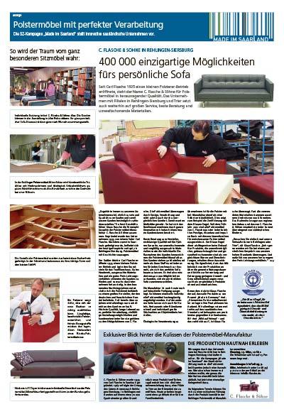 Anzeige in der Saarbrücker Zeitung